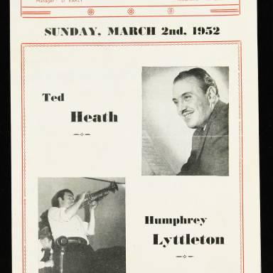 Ted Heath & Humphrey Lyttelton, Odeon Theatre, Barking - 1952 001