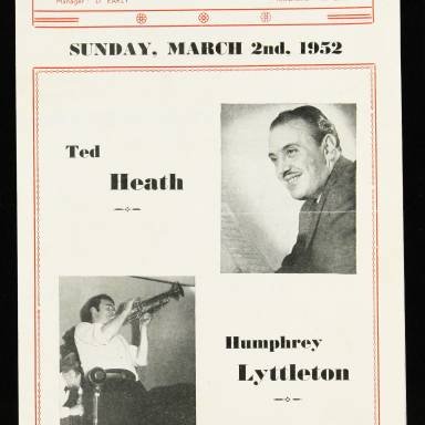 Ted Heath & Humphrey Lyttleton, Odeon Theatre, Barking - 1952 001