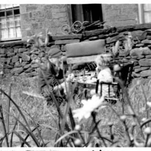 Grenoside, 12 Lump Lane, rear garden c1936  2