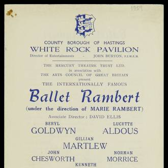 White Rock Pavilion, Hastings, April–May 1959