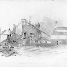 Industry coal-St Hilda's Colliery from an engraving