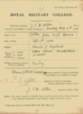 RMC Form 18A Personal Detail Sheets May & Sept 1918 - page 6