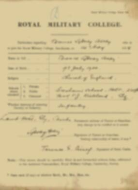 RMC Form 18A Personal Detail Sheets May & Sept 1918 - page 5