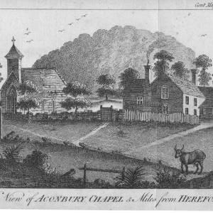 Aconbury Chapel, Herefordshire, print, 1787