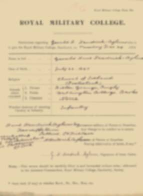 RMC Form 18A Personal Detail Sheets Jan 1915 Intake - page 10