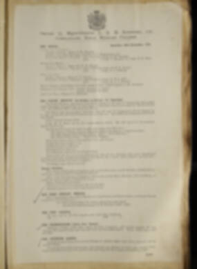 Routine Orders - June 1918 - April 1919 - Page 191