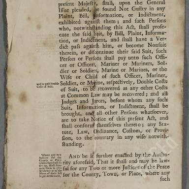 Act Concerning Officers, Mariners and Soldiers (Part 3)