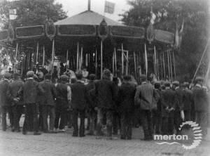 Mitcham Fair: Queue for the carousel