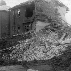 Bomb Damage to Dean Crescent, looking South.