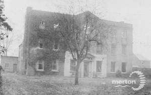 The Elms, London Road, Mitcham:  Burnt down 1891
