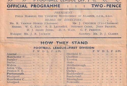 1948-49 - Reserve Team Homes