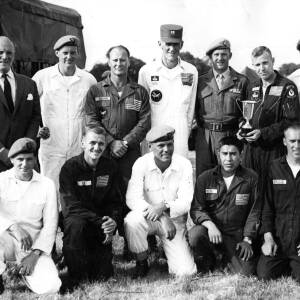 Group of skydivers, including Robert Keith Norry.
