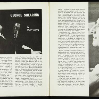 The George Shearing Quartet and Joe Williams, with the Junior Mance Trio, British Tour - September October 1962 003