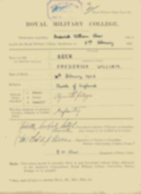 RMC Form 18A Personal Detail Sheets Feb & Sept 1921 Intake - page 9