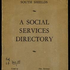 South Shields Social Services Directory, 1931