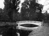 Morden Hall Park: View of the iron bridge, looking north