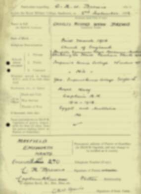 RMC Form 18A Personal Detail Sheets Jan & Sept 1932 Intake - page 13