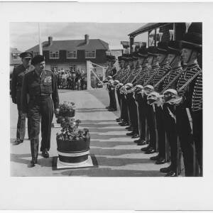 138 - Field Marshall Montgomery inspecting youths in full dress uniform