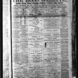 Ross Gazette - 1878