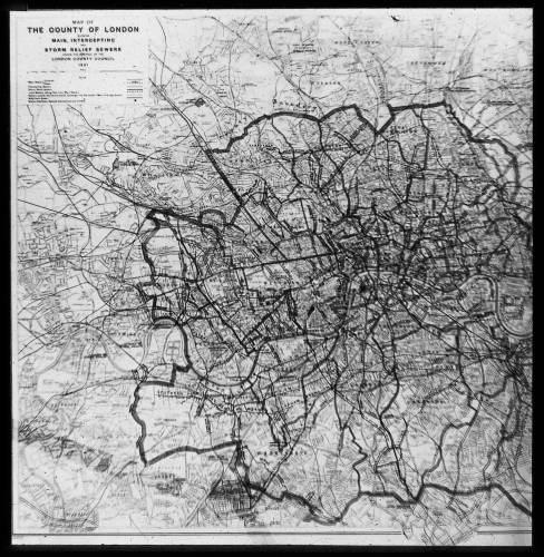 "2"" : 1 mile sewer map of London west"