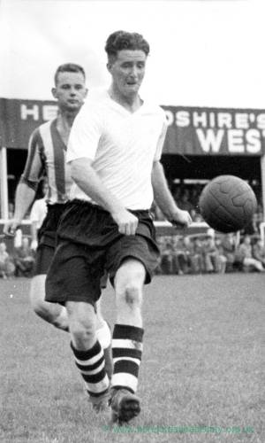Hereford United in action, 1950s.