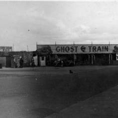Ghost Train at Amusement Park