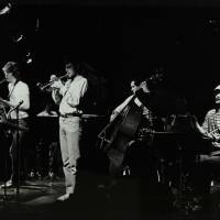 Chris Hunter, Michael Garrick, Guy Barker, Chris Laurence and Brian Abrahams (left to right)
