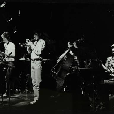 Chris Hunter, Michael Garrick, Guy Barker, Chris Laurence and Brian Abrahams (left to right)