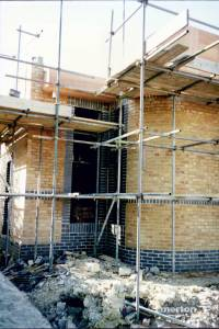 Building work in progress, Southfields Methodist Church