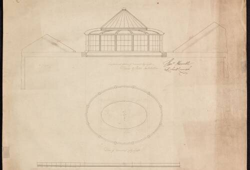 Plan of domical skylight,  Devon and Exeter Institution