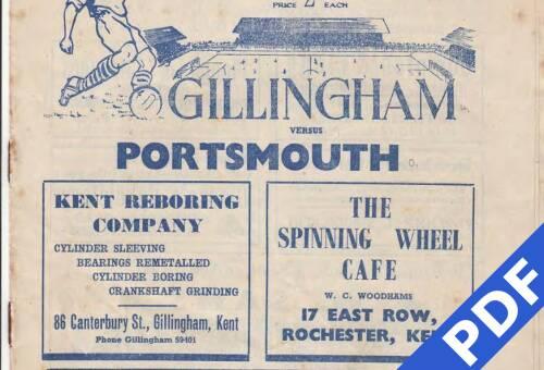 19500222 Gillingham Away