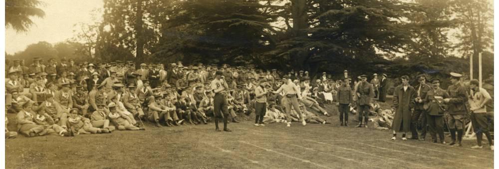 Celebrations on Dominion Day, Canadian Convalescent Hospital, Bearwood, Reading, 1st July 1916.