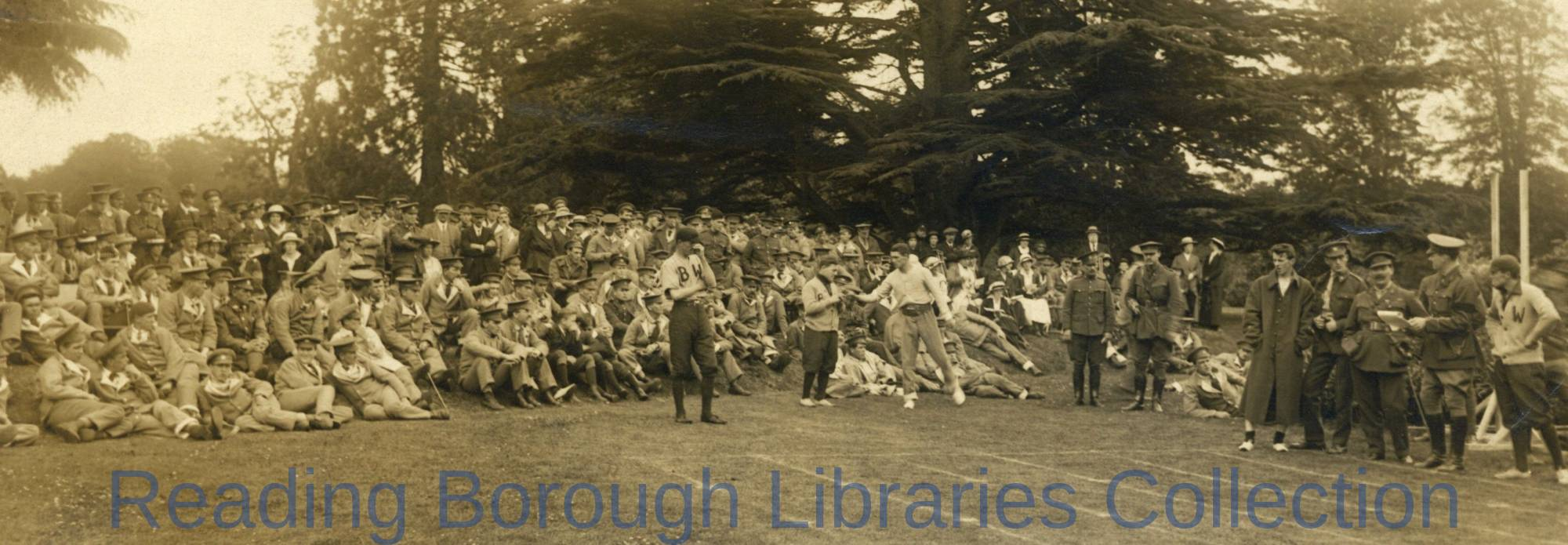 Celebrations on Dominion Day, Canadian Convalescent Hospital, Bearwood, Reading, 1st July 1916.