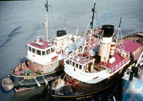 The tug boats Egerton and North Wall.