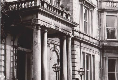 Reed Hall, door, photograph, c1975, Exeter