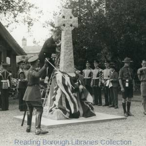 The Unveiling of Padworth War Memorial, 4 August 1926, by Colonel Price Davies, V.C.