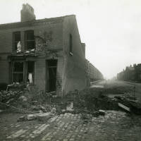 Bedford Road/Cambridge Road, bomb damage, Blitz