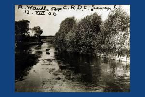 River Wandle opposite Croydon Rural District Council sewage farm, Colliers Wood
