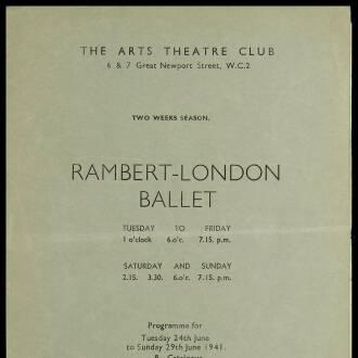 Arts Theatre Club, London, June–July 1941