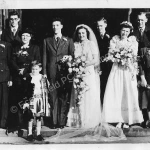 Derrick & Edith Kay's wedding - family group