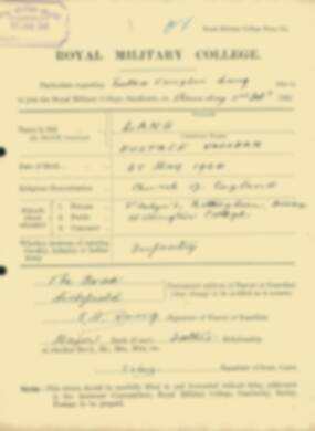 RMC Form 18A Personal Detail Sheets Feb & Sept 1922 Intake - page 84