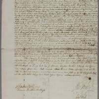 Indenture between John Bell, surgeon apothecary in Edinburgh and Charles Bell, his brother with…Robert Bell, writer to the Signet as cautioner (1)