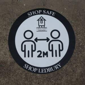 Shop Safe sign Ledbury