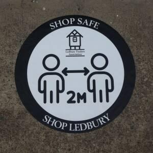 Shop Safe sign Ledbury