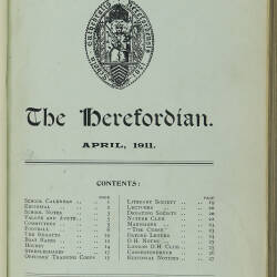 The Herefordian No 66_April 1911