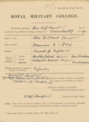 RMC Form 18A Personal Detail Sheets Jan 1915 Intake - page 61