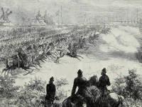 National Rifle Association camp: Cavalry display