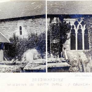 Bredwardine Church, windows in south wall