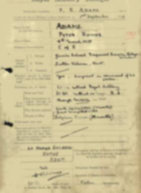 RMC Form 18A Personal Detail Sheets Feb & Sept 1933 Intake - page 152