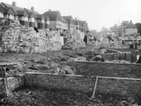 Garth Road, Morden: Construction work in progress